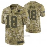 Maglia NFL Limited Carolina Panthers 18 Damiere Byrd 2018 Salute To Service Camuffamento