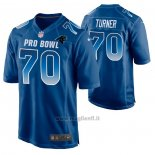 Maglia NFL Limited Carolina Panthers Trai Turner 2019 Pro Bowl Blu
