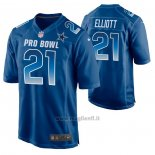 Maglia NFL Limited Dallas Cowboys Ezekiel Elliott 2019 Pro Bowl Blu