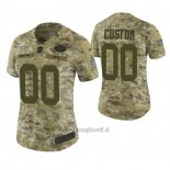 Maglia NFL Limited Donna New York Jets Personalizzate 2018 Salute To Service Verde