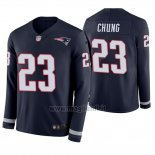 Maglia NFL Therma Manica Lunga New England Patriots Patrick Chung Blu