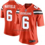 Maglia NFL Game Cleveland Browns 6 Baker Mayfield Arancione 2018 Draft Pick
