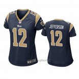 Maglia NFL Game Donna Los Angles Rams 12 Van Jefferson Blu
