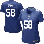 Maglia NFL Game Donna New York Giants Banks Blu