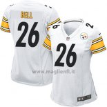 Maglia NFL Game Donna Pittsburgh Steelers Bell Bianco