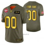 Maglia NFL Limited Kansas City Chiefs Personalizzate 2019 Salute To Service Verde