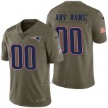 Maglia NFL Limited New England Patriots Personalizzate 2017 Salute To Service Verde