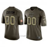 Maglia NFL Limited New England Patriots Personalizzate Salute To Service Verde2