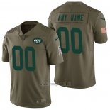 Maglia NFL Limited New York Jets Personalizzate 2017 Salute To Service Verde