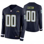 Maglia NFL Los Angeles Chargers Personalizzate Blu Therma Manica Lunga