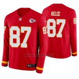 Maglia NFL Therma Manica Lunga Kansas City Chiefs Travis Kelce Rosso