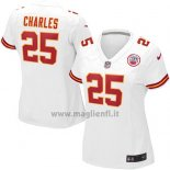 Maglia NFL Game Donna Kansas City Chiefs Charles Bianco