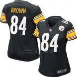Maglia NFL Game Donna Pittsburgh Steelers Brown Nero