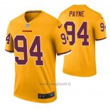 Maglia NFL Legend Washington Redskins Da'ron Payne Color Rush Giallo