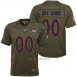 Maglia NFL Limited Bambino Denver Broncos Personalizzate Salute To Service Verde