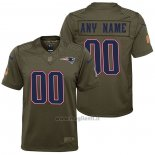 Maglia NFL Limited Bambino New England Patriots Personalizzate Salute To Service Verde