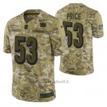 Maglia NFL Limited Cincinnati Bengals 53 Billy Price 2018 Salute To Service Camuffamento