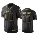 Maglia NFL Limited Kansas City Chiefs Personalizzate Golden Edition Nero