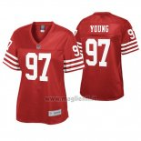 Maglia NFL Donna San Francisco 49ers Bryant Young Pro Line Rosso