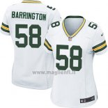 Maglia NFL Game Donna Green Bay Packers Barrington Bianco