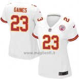 Maglia NFL Game Donna Kansas City Chiefs Gaines Bianco