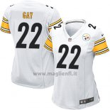 Maglia NFL Game Donna Pittsburgh Steelers Gay Bianco
