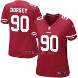 Maglia NFL Game Donna San Francisco 49ers Dorsey Rosso