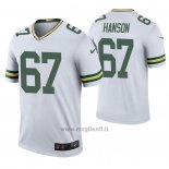 Maglia NFL Legend Green Bay Packers 67 Jake Hanson 2020 Bianco Color Rush