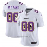 Maglia NFL Limited Baltimore Ravens Personalizzate Logo Dual Overlap Bianco