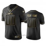 Maglia NFL Limited Los Angeles Chargers Personalizzate Golden Edition Nero