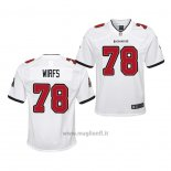 Maglia NFL Game Bambino Tampa Bay Buccaneers Tristan Wirfs 2020 Bianco