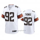 Maglia NFL Game Cleveland Browns Chad Thomas 2020 Bianco