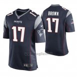Maglia NFL Game New England Patriots Antonio Brown Blu2