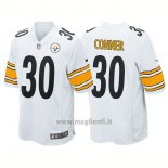 Maglia NFL Game Pittsburgh Steelers 30 James Conner Bianco