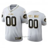 Maglia NFL Limited New York Jets Personalizzate Golden Edition Bianco