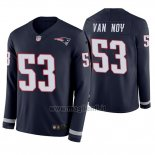 Maglia NFL Therma Manica Lunga New England Patriots Kyle Van Noy Blu