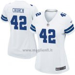 Maglia NFL Game Donna Dallas Cowboys Church Bianco