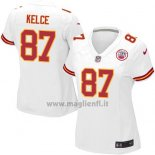 Maglia NFL Game Donna Kansas City Chiefs Kelce Bianco
