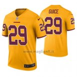 Maglia NFL Legend Washington Redskins Derrius Guice Giallo