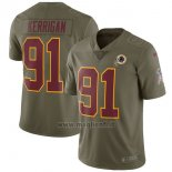 Maglia NFL Limited Bambino Washington Redskins 91 Kerrigan 2017 Salute To Service Verde