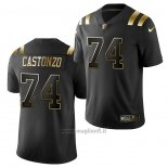 Maglia NFL Limited New England Patriots Anthony Castonzo Golden Edition Nero