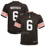 Maglia NFL Game Bambino Cleveland Browns Baker Mayfield Marrone3