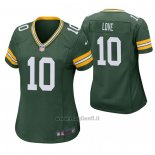 Maglia NFL Game Donna Green Bay Packers 10 Jordan Love 2020 Verde