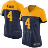 Maglia NFL Game Donna Green Bay Packers Favre Nero Giallo2
