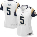 Maglia NFL Game Donna Los Angles Rams Foles Bianco