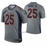 Maglia NFL Legend Denver Broncos 25 Chris Harris JR Inverted Grigio