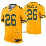 Maglia NFL Legend Green Bay Packers 26 Darnell Savage Jr. Inverted Or