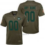 Maglia NFL Limited Bambino New York Jets Personalizzate Salute To Service Verde