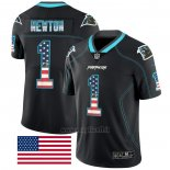 Maglia NFL Limited Carolina Panthers Newton Rush USA Flag Nero