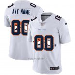 Maglia NFL Limited Denver Broncos Personalizzate Logo Dual Overlap Bianco